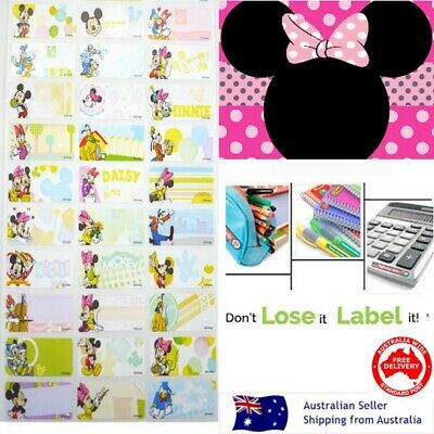 Minnie Mouse kids Personalised Name Label preschool back2school pencil sticker