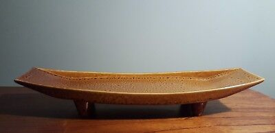 """Vintage Partylite Candle Tray with 4 legs, 17"""" long"""