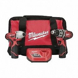 """Milwaukee Tool Cordless Combination Tool Set with 1/4"""" Hex Impact Driver, 3/8..."""