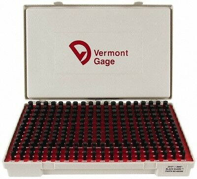 Vermont Gage 250 Piece, 0.2515-0.5005 Inch Diameter Plug and Pin Gage Set Min...