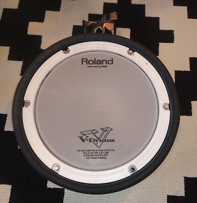 "Roland PDX-8 10"" Mesh Dual Trigger Electronic Snare Tom mit Bedienungsanleitung"