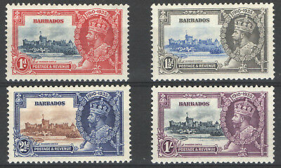 1935 Barbados Gv Silver Jubilee Set F/vf Mlh/mh*