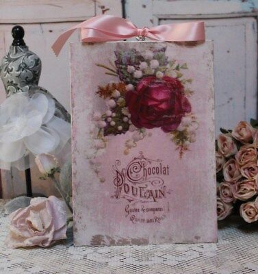 "~ ""Chocolat Poulain"" Shabby Chic French Country Cottage style Wall Decor Sign ~"