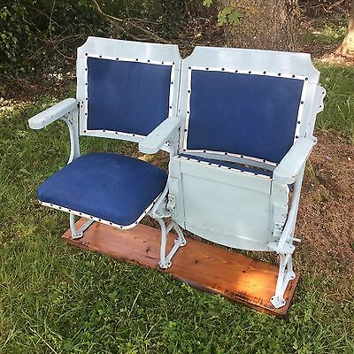 Vintage Cinema Theatre Chairs Pair Circus French Fairground two sets available