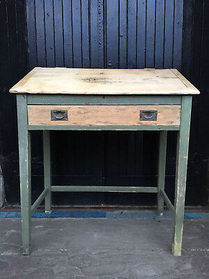 Tall Pine Antique Clerks Desk - Painted