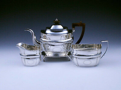 GEORGE III TEESERVICE, Sterling Silber, London 1806, HZ: Urquhart & Hart