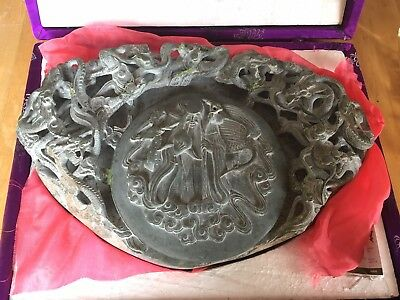 Collectable Antique Chinese Hand Carved Stone Ink Slab 中国洮砚