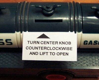 """Paper Bank Instruction Tab for 1985 Hess """"First Truck"""" 85"""