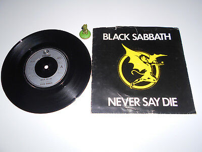 Black Sabath - Never say Die (1978) Vinyl 7` inch Single Vg +