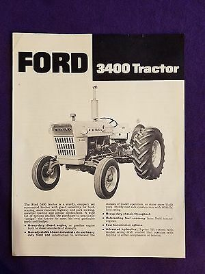 Ford Tractor 3400 Tractor Dealer's Brochure