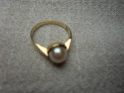 Perlen-Ring, gold (585)