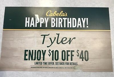 Cabela's Coupon - $10 off of $40 Purchase! Expires 1/31/2018