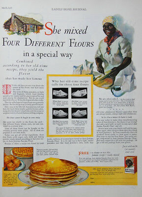 1928 Aunt Jemima Pancake Ad She Mixed Four Different Flours in a Special Way