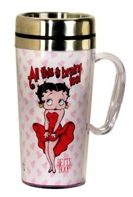 Betty Boop Mug for traveling, White. insulated and Keeps Drinks Hot or Cold. new