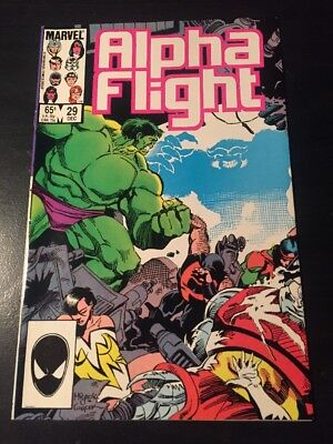 Alpha Flight#29 Incredible Condition 9.0(1985) Box Beatdown, Hulk, Mignola Art!!