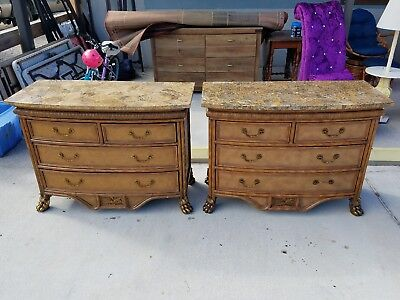 Pair Of  Maitland Smith Small Chest Drawers