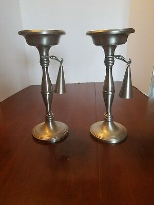 FINE Pair Of Antique GODINGER Tall Candle Holders With Snuffers!