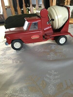 DECENT CONDITION 1960's Tonka Pressed Steel Red Cement Truck