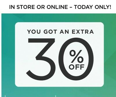 Kohls 30% today only