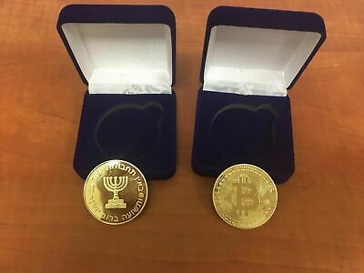 MOSSAD Gold Plated Bitcoin Coin Collectible Gift BTC Coin Art Collection
