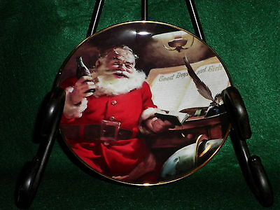 Coca-Cola Santa - Franklin Mint 1994 Porcelain Plate                     (AS-10)