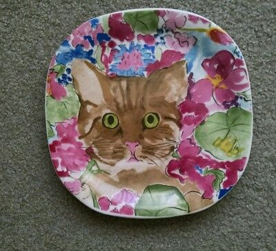 Cat Plate -- Collection Couer Minou-ettes by C. Pradelie  - from Portugal
