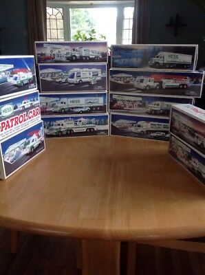 Lot of 13 Hess Trucks Lights and Sounds Vehicles - New