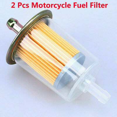 2x Oil Fuel Filter 8mm 5 16 Intake Motorcycle 2x universal 8mm clear 5 16\