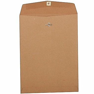JAM Paper 9 x 12 Open End Catalog Envelopes with Clasp Closure - Brown - 50/Pack