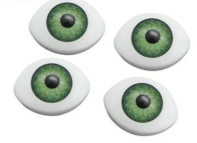 10 x 14.5mm  Doll Making Craft Oval  Eyes Acrylic Doll Eyeballs 12pcs  NEW