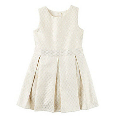 c5c0c6a9c9194 Carters Baby Girls Dress Holiday Jacquard Sleeveless Toddler Size 2T 3T NWT