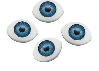 10 x 14 mm BLUE Doll Making Craft Oval  Eyes Acrylic Doll Eyeballs 10pcs  BNIP