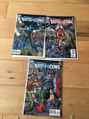 Batman Battle of the Cowl 1 to 3 set all NM