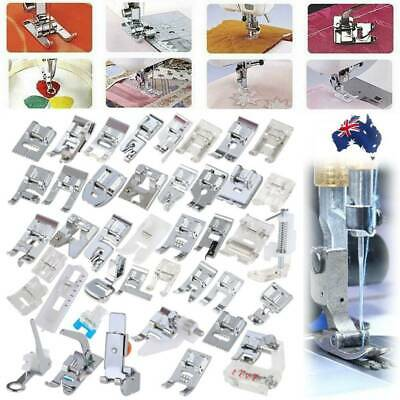 42x Metal Sewing Machine Foot Presser Feet Set for Brother Singer Janome Parts