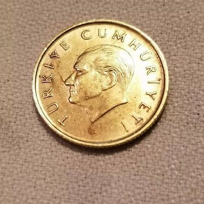 1990 Turkey 1000 Lira AU Condition Excellent Nice Collectible Coin!