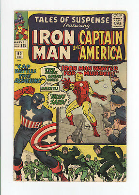 TALES OF SUSPENSE #60 - 2nd APPEARANCE OF HAWKEYE - IRON MAN & CAP  1964