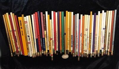 Vintage , Mixed Advertising Pencil Lot.54 Different States & Companies+ Pencils
