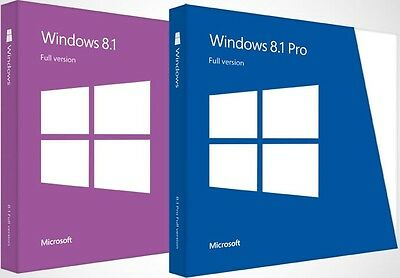 Windows 8/8.1 Reinstallation Disc Full Install - 32 64 Home Professional Enterp