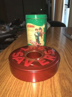 2 Vintage Life Savers Holiday 1990 Limited Edition Tin Lot