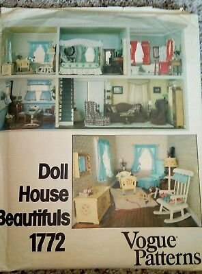 VOGUE 1772 doll house furnishings pattern UNCUT complete