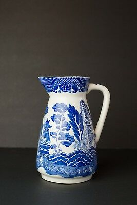 Ceramic Blue Serving Pitcher Vase Oriental Chinese Pottery