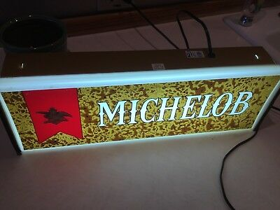 """MICHELOB BEER LIGHTED ADVERTISING SIGN Excellent ANNEUSER BUSCH 18""""X6"""""""