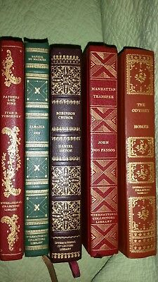 Lot of 5 International Collectors Library Vintage Decorative Hardcover Classics