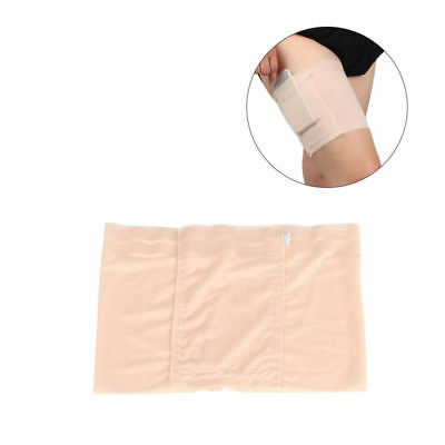 Elastic Thigh Sock Women Girls Non Slip Anti-Chafing Thigh Band Sock w/ Pocket