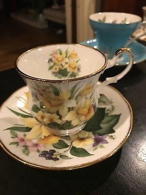 Elizabethan Staffordshire England Fine Bone China  Coffee Tea Cup & Saucer