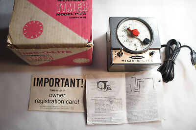 Professional Time-O-Lite Model P-72 ENLARGER SAFTELIGHT TIMER + MANUAL
