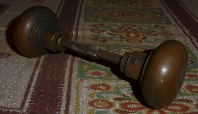 Vintage Brass Door Knob Assembly