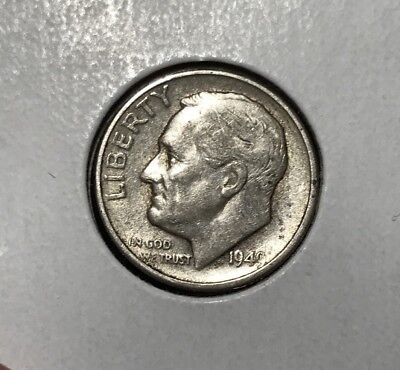 1949-S 10C Roosevelt Dime VF: Some Luster Remaining. Key Date!!