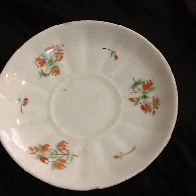 Very Old Plate Floral Design With Mystery