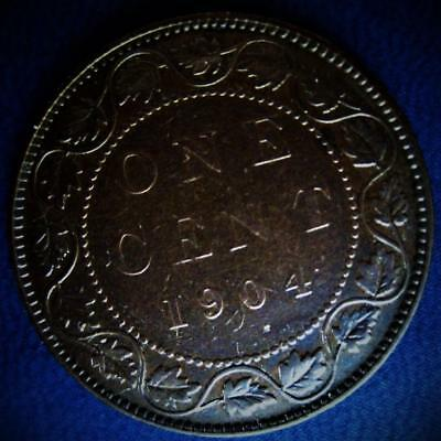 1904 Canada Large Cent Low Mintage Better Date Canadian 1 Penny Value Coin Lot D